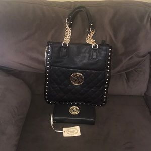 Brand New Faux Leather Tote with Wallet included.